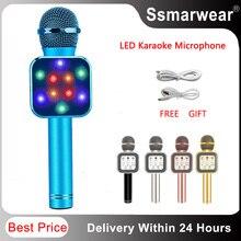 Модный ручной беспроводной микрофон KTV, динамик, реверберация, голосовой конденсатор, запись караоке, живой объемный звук PK WS1816