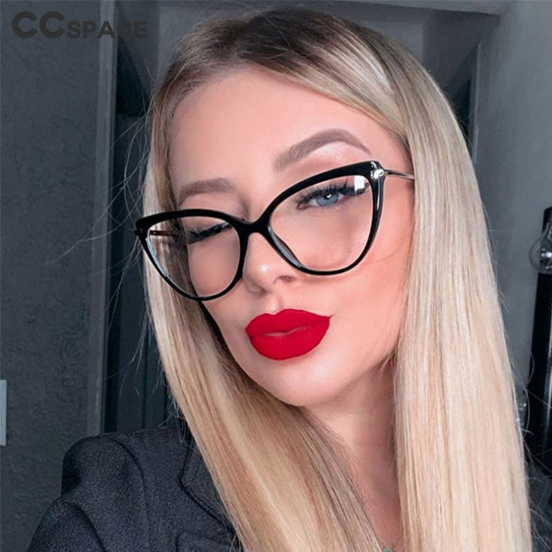 45963 Plastic Titanium Retro Cat Eye Glasses Frames Men Women Optical Fashion Computer Glasses 1