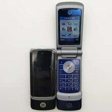 Разблокированный Motorola Krzr K1 флип GSM Bluetooth MP3 FM радио Мобильный телефон