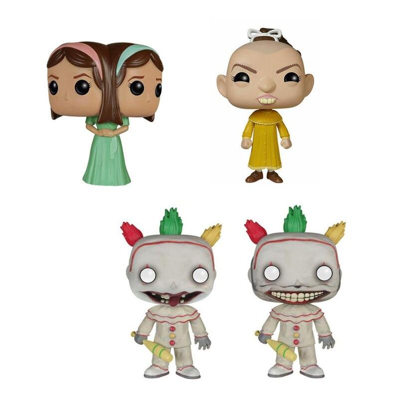 American Horror Story Freak Show Twisty The Clown Pepper Tattler Twins Elsa Figure Collection Vinyl Doll Model Toys