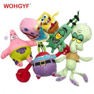 Image 1 - 6 Styles Cartoon Plush SpongeBob Patrick Star Squidward Tentacles Eugene Sheldon Gary Dolls Stuffed Toys Kids Girls Gifts