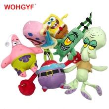 6 estilos dos desenhos animados de pelúcia spongebob patrick estrela squidward tentáculos eugene sheldon gary bonecas brinquedos de pelúcia crianças meninas presentes