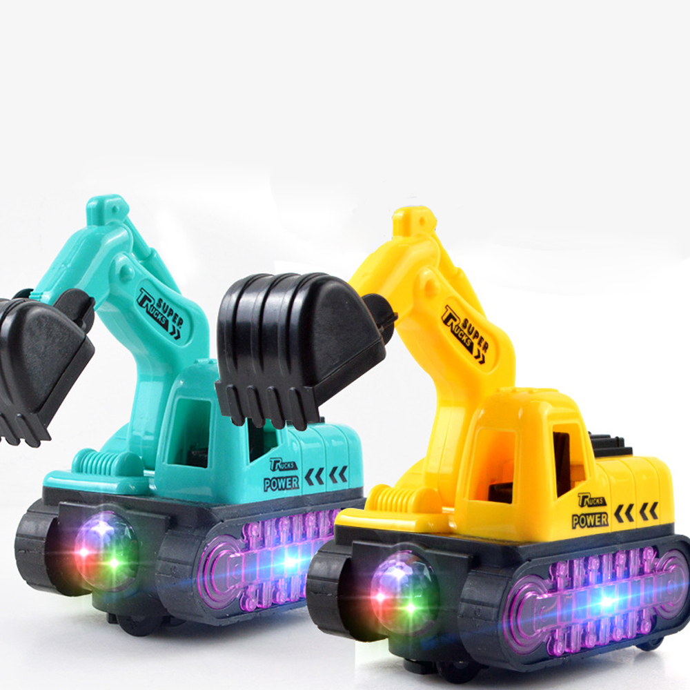 Mini RC Truck Rechargeable Simulated Excavator Gift Toy With Music & Light Engineering Car Boys Electric Truck Toys For Children