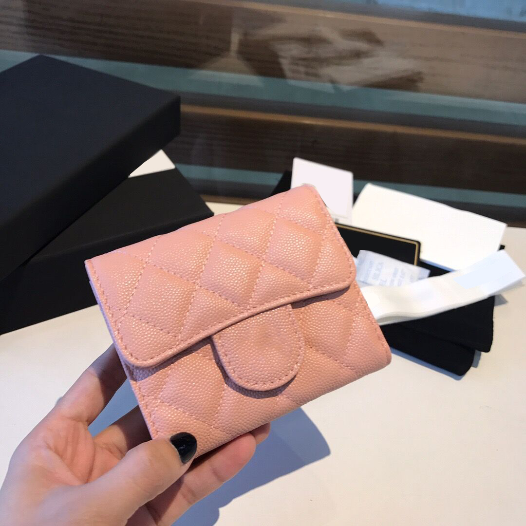 2020 New product High-end custom luxury cardholder Caviar leather making Ringer Coin wallet casual fashion