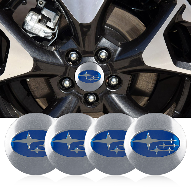 4Pcs 56mm Car Tire Cover Decal Wheel Center Hub Cap Sticker For Subaru Forest Human Lion XV Impreza WRX STI BRZ Accessories