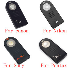 20/50pcs ML L3 RC 6 IR Wireless Remote Control for Canon nikon Sony pentax Controller with Battery