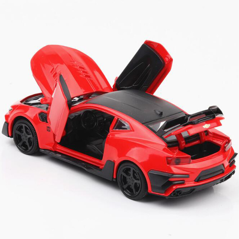 16CM Metal Alloy 1:32 Scale 5 Colors Classic Chevrolet Camaro Racing Cool Car Pull Back Diecast Vehicles Model Toys For Kids