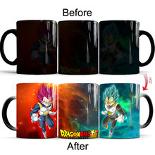 Dragon Ball Z Red Blue Hair Saiyan Vegeta IV Coffee Mugs Heat Sensitive Tea Cups Cosplay Props Cartoon Anime Gifts for Friends(China)