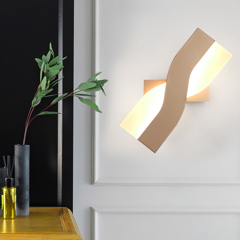 Creative Wrought Iron-X-Shaped LED Wall Lamp Simple Bedside Lamp Study Room Rotatable LED Acrylic Wall Lights