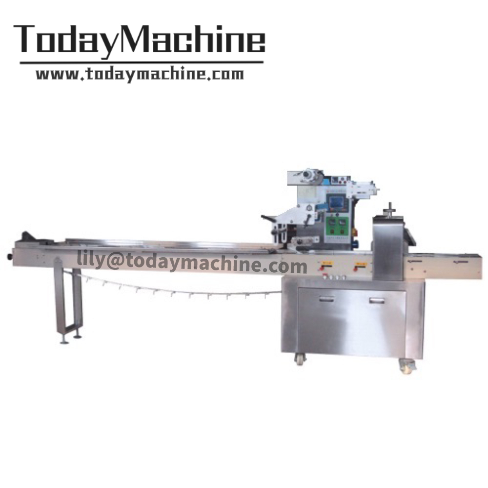 Horizontal Flow Baby Diaper Wrapper Wrapping Packing Packaging Machine