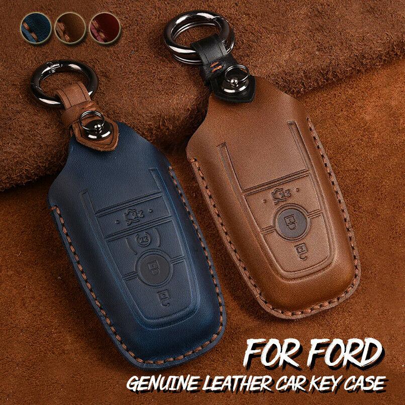 Топ Слои кожа для Ford Fusion Mustang F150 250 Explorer экспедиция Edge кожаный брелок держатель Чехол чехол