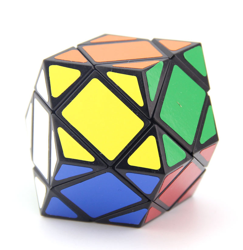 Blue Three Layer Twelve Surface Rhombohedral Rubik's Cube Creative Fun Smooth Shaped Intelligence Rubik's Cube Toy Grant from