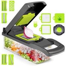 Coupe-légumes multifonctionnel 12 en 1, Mandoline réglable, trancheuse à oignon et pommes de terre, outils de légumes de cuisine