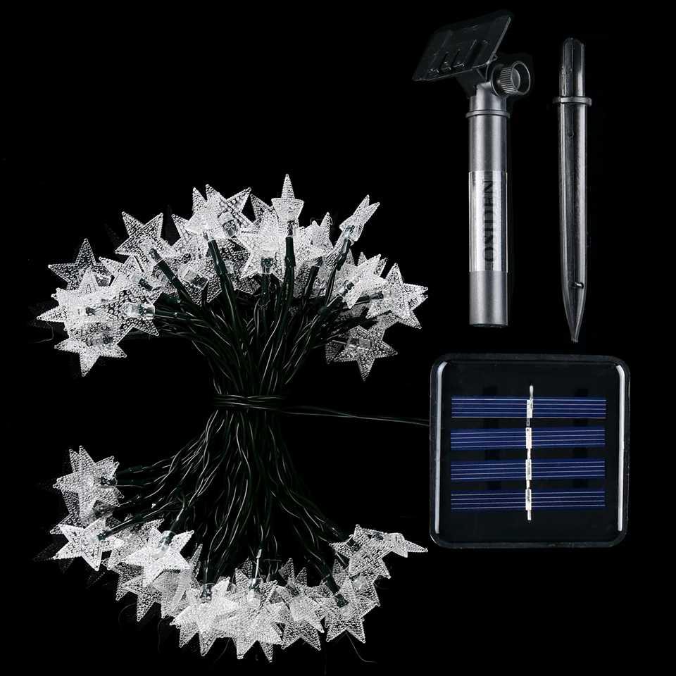 Twinkly Vòng Hoa Luminaria Năng Lượng Mặt Trời Sao Chuỗi Đèn Energia Đèn LED Năng Lượng Mặt Trời Ngoài Trời Sân Vườn Năng Lượng Mặt Trời Cổ Tích Đèn Giáng Sinh Tiệc Cưới