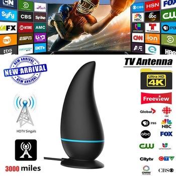 2020 New HDTV Antennas Receiver 3000 Miles Indoor Digital Tv Antenna Amplifier Suit DVB-T2 DVB-S2 Isdb-t Satellite Dish Aerial