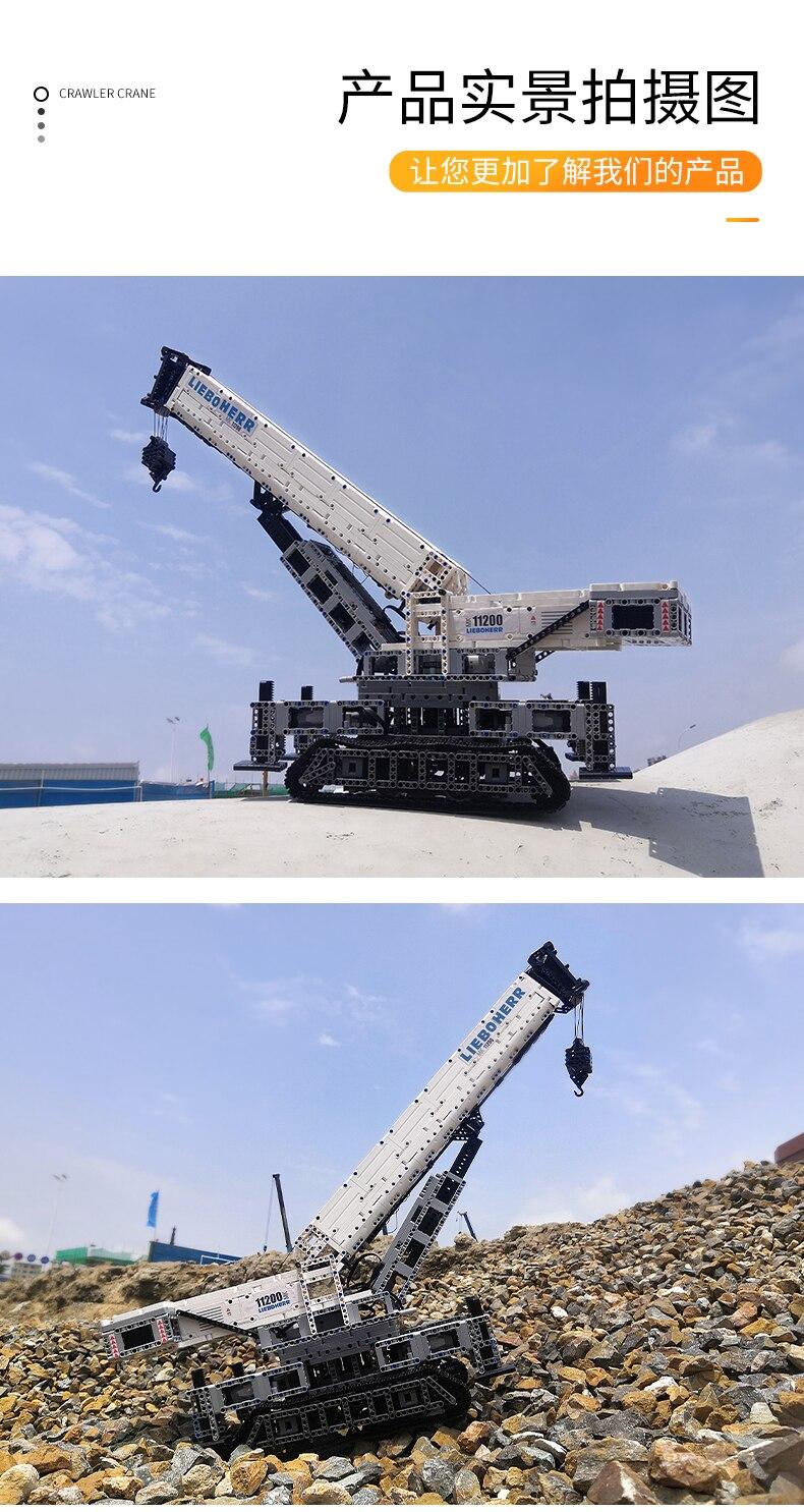 MOULD KING 17002 Remote Control LIEBHERRS LTM Excavator Truck
