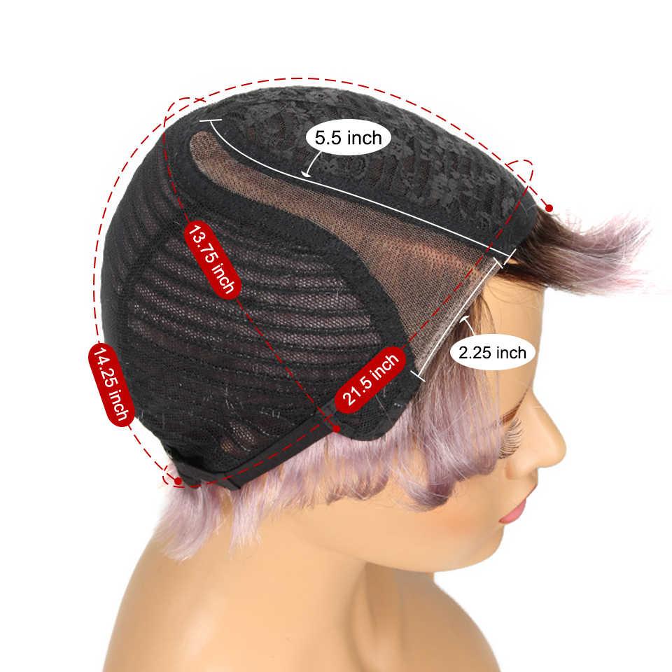 Гладкие короткие парики из человеческих волос 100% Remy бразильские волосы парики 613 блонд парики шнурка L часть Pixie Cut парик 8 дюймов Короткие парики 150% парики