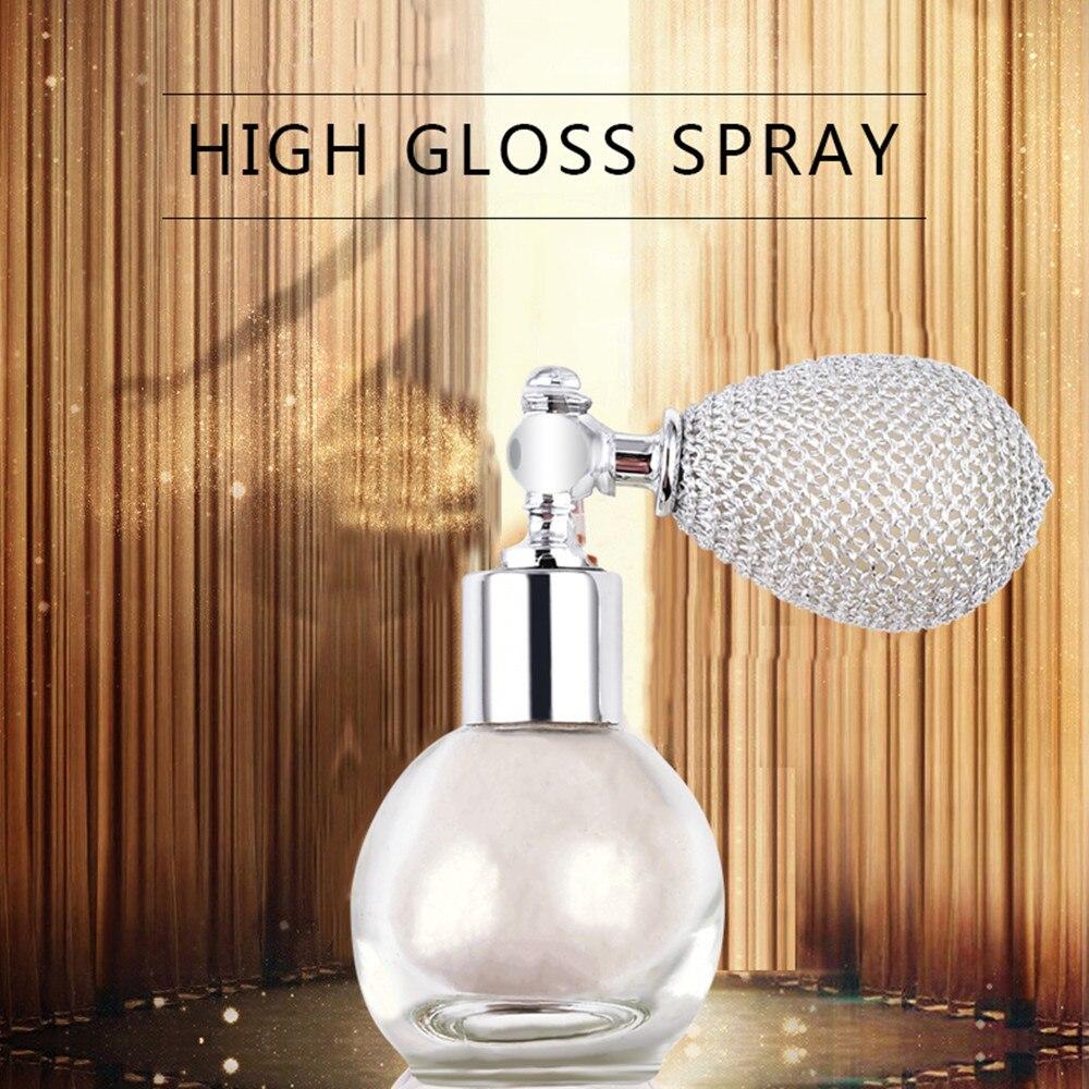 4 Colors Brighten Shimmer Glitter Loose Powder Spray Face Makeup Stick Highlighter Powder Creamy Texture Sprayer Cosmetics