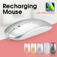 Novo silencioso sem fio mouse óptico com bluetooth 2.4g mudo mini camundongos silenciosos para windows pc computador portátil gaming mouse