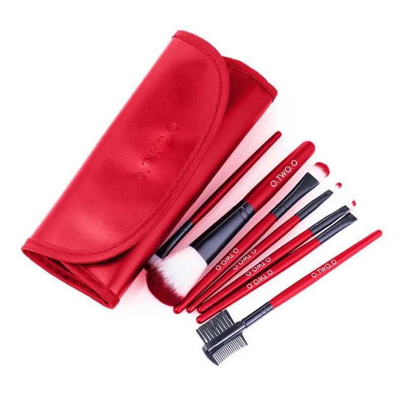 O. dua. O 7 Pcs/lot 3 Warna Make Up Sikat Set Kosmetik Sikat Set Kecantikan Primer Mata Kuas Blush On Bubuk dengan Pag