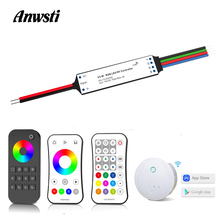 цена на Mini RGB LED Controller 12V 24V DC RF 2.4G Wireless Remote Control Smart Wifi 3 Channel RGB Controller for LED Strip Light V3-W