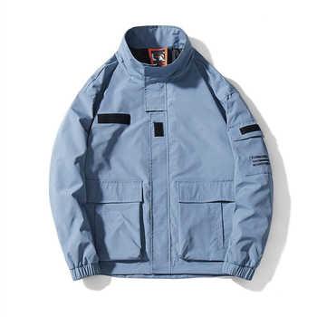New Casual Hooded Jacket Men Original Brand Tace & Shark jaqueta masculina Stand Collar Japanese Streetwear Hip Hop Jacket Coat