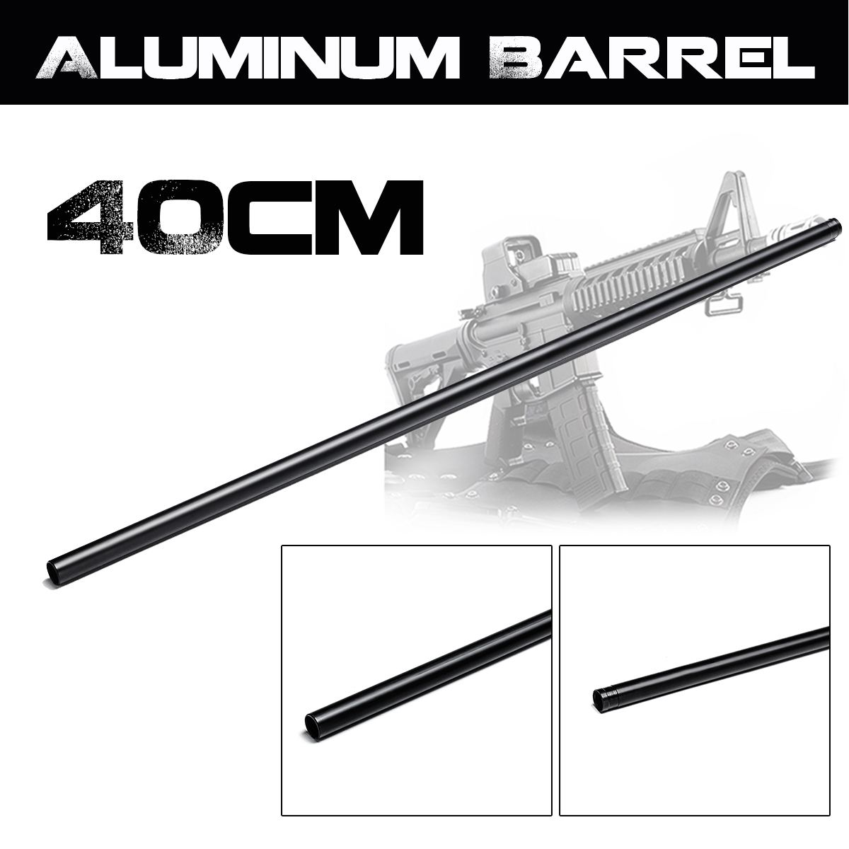 40cm Black Upgrade Aluminum Barrel For Jinming 8th M4A1 Gel Ball Blasters Toy Guns Replacement Accessories