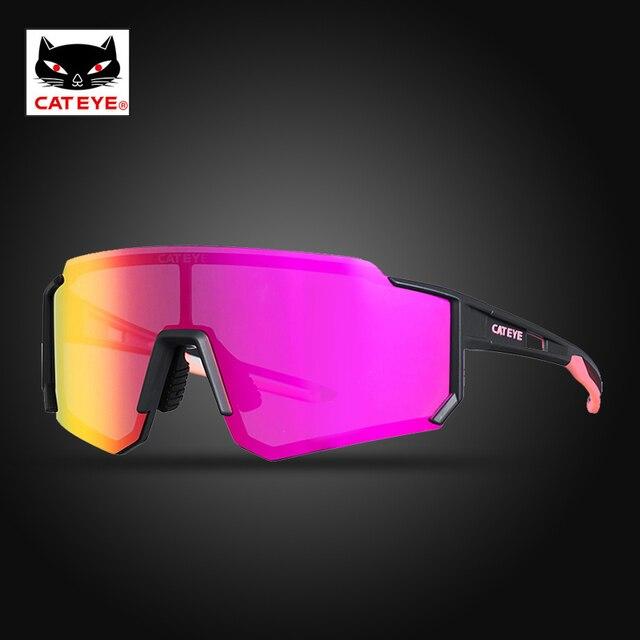Cateye ciclismo óculos polarizados photochromic bicicleta esporte polaroid óculos de sol estrada mtb caminhadas com lente míope 2020novo 4