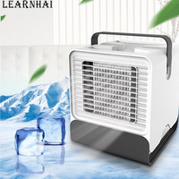 LEARNHAI Mini Air Cooler Fan Portable Digital Air Conditioner Humidifier Easy Cool Purifies Air Cooling Fan for Home Office