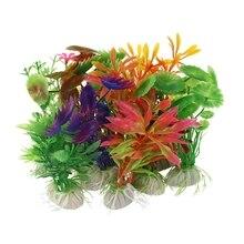 10 х Смешанные искусственные аквариумные рыбки водное растение пластиковые украшения орнамент