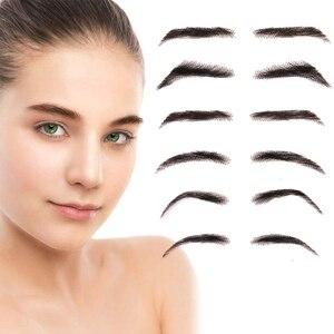 Aiyee jolie estilo falso sobrancelhas para mulheres onda estilo eyebows rendas cabelo humano falsas sobrancelhas artificiais tecelagem sobrancelha perucas