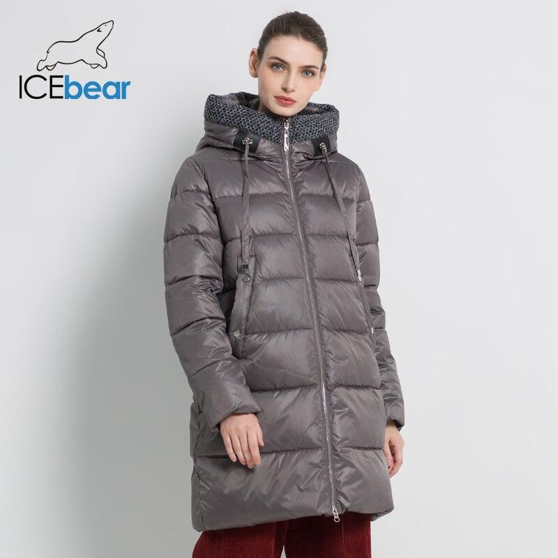 ICEbear 2019 nouvelle veste femme d'hiver mode femme manteau de haute qualité femme manteau marque vêtements GWD19555I-in Parkas from Mode Femme et Accessoires    1
