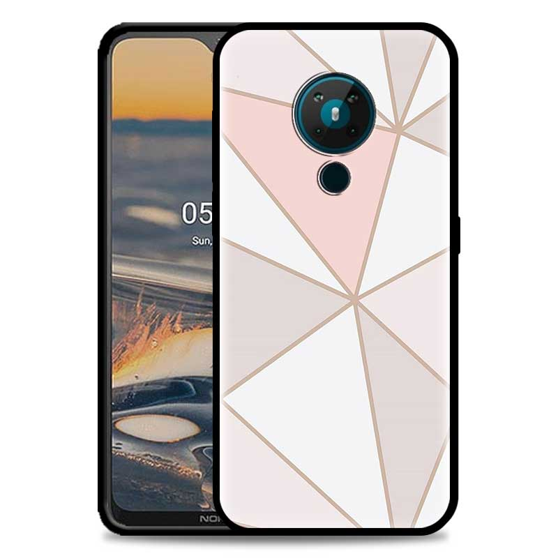 Geometric Triangle Printing Phone Case For Nokia 5.4 1.4 7.2 5.3 2.3 3.4 3.2 4.2 2.4 8.3 5G
