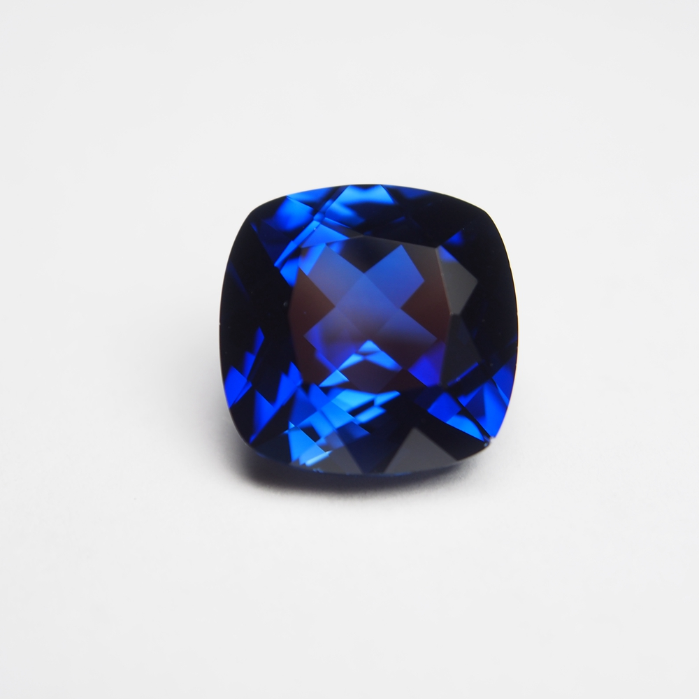 10*10mm 5 cts 1 Piece Lab Creat sapphire stone Royal Blue loose gemstone Cushion Cut sapphire ring earring for gift