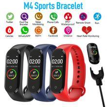 Reloj inteligente M4 para hombre, pulsera inteligente deportiva resistente al agua, con control del ritmo cardíaco y de la presión sanguínea
