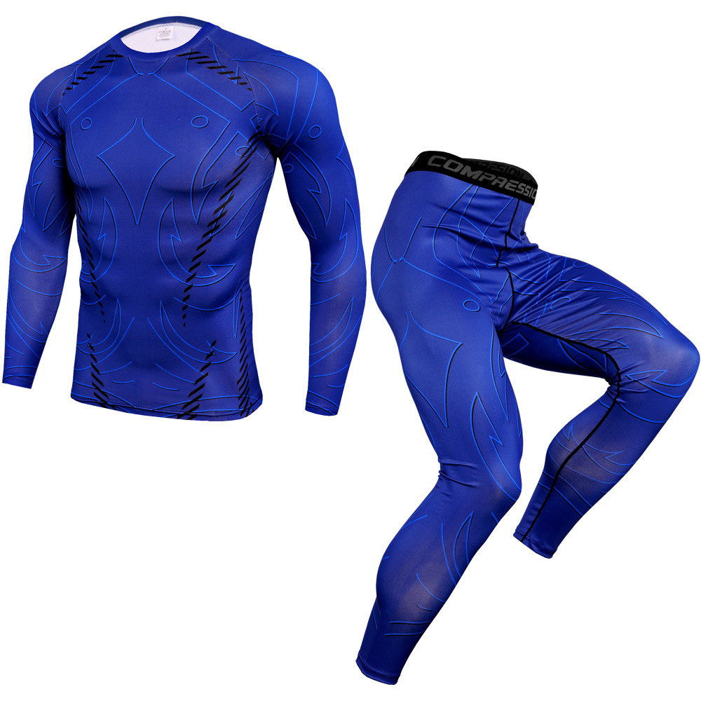 Winter Thermal Underwear Pant+Clothing Men Quick Dry Male Warm Fitness Tracksuit Thermo Underwear Set Men's Sportswear