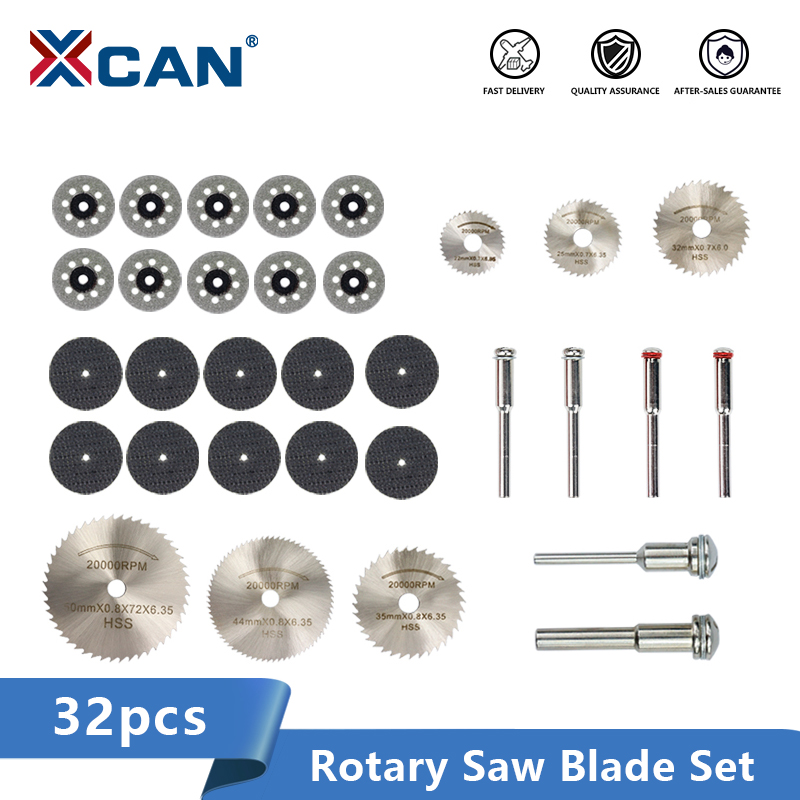 XCAN Diamond Coated Saw Blade 32pcs HSS Mini Saw Blade Metal Cutting Disc