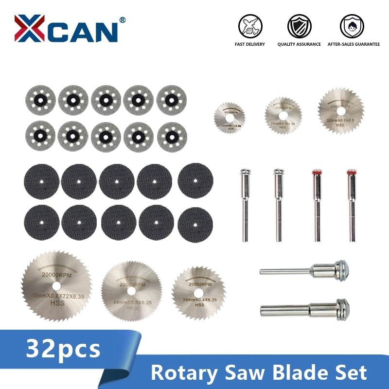 XCAN Diamond Coated Saw Blade 32pcs HSS Mini Saw Blade Metal Cutting Disc