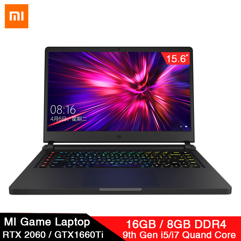 Original Xiaomi Mi Game Laptop 15.6 Inch Upgrade I5 8G / I7 16G DDR4 144Hz GTX1660Ti / RTX2060 NVIDIA 6GB DDR6 E-sports Computer