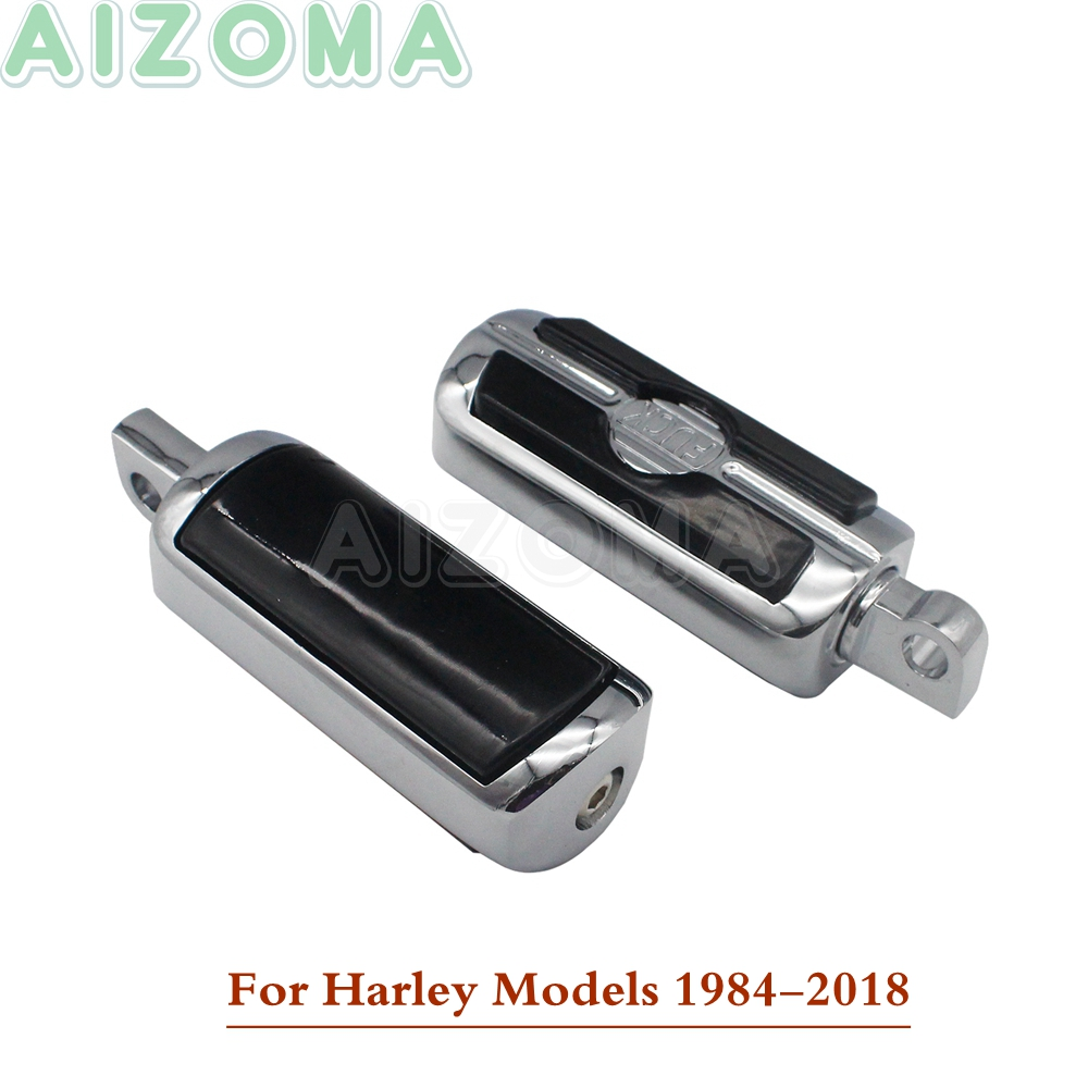 2pcs Motorcycle Footpegs Footrests Foot Peg Pedals For Harley Dyna Fatboy Iron 883 1200 D4 Custom Davidson 1984-2018 2012 2013