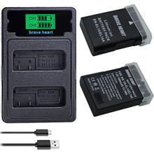 2x1800 мА/ч, EN-EL14 RU EL14 EN-EL14a Батарея + ЖК-дисплей двойной Зарядное устройство для Nikon P7800,P7100,D3400,D5500,D5300,D5200,D3200,D3300,MH-24