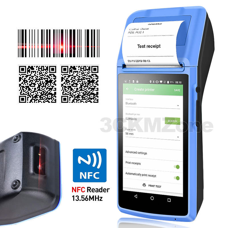 Terminal POS Thermal-Printer Free-Pos-System Wifi Bluetooth Handheld Android Pda-Device title=