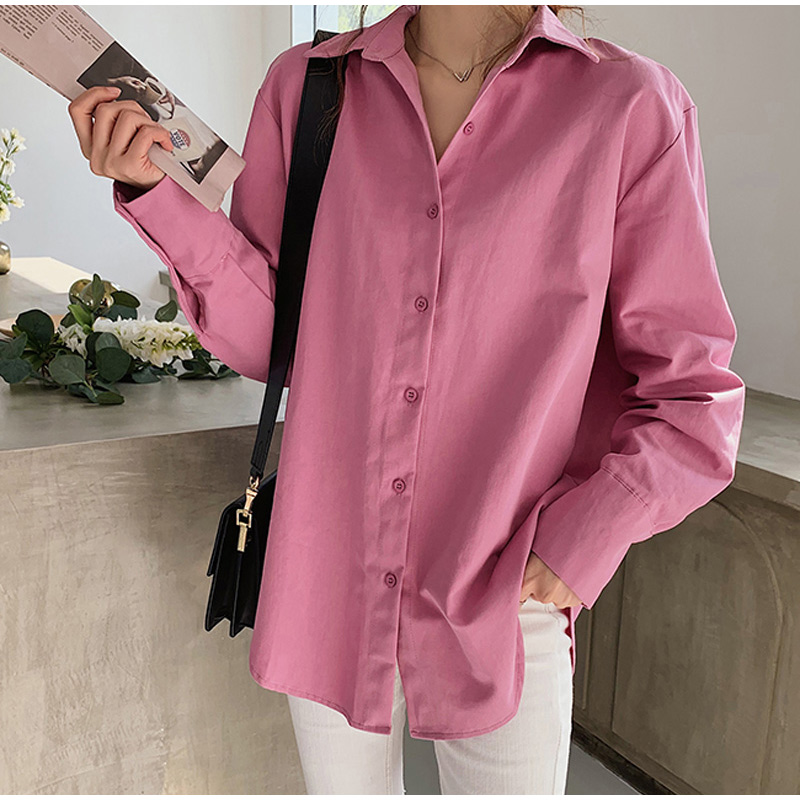 Plus Size 4XL Solid Women's Shirts Button Irregular Hem White Female Shirt 2020 Autumn Office Lady Oversize Ladies Tops Clothes