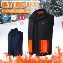 Veste chauffante USB pour hommes, gilet thermique sans manches, pour l'équitation à moteur, la chasse, la randonnée, 9 zones, hiver