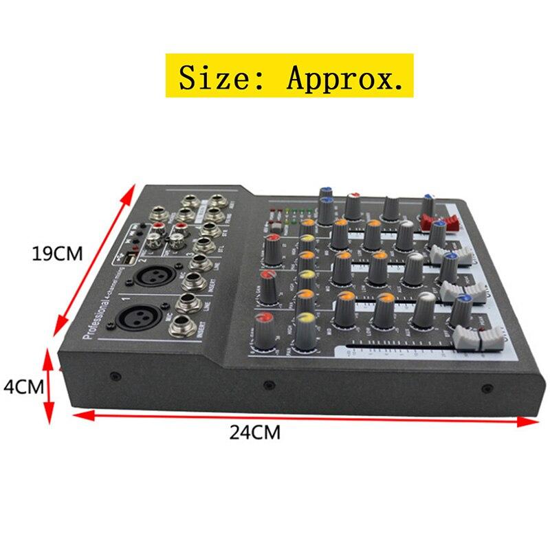 Мини Портативный аудио микшер с USB DJ звук микшерный пульт MP3 Jack 4 канала караоке 48 в усилитель для караоке KTV матч Вечерние