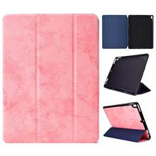Smart Cover For Apple iPad Pro 10.5 A1701/ A1709 With Pencil Holder Full Body Protective Shockproof Case Funda+Stylus Pen.(China)