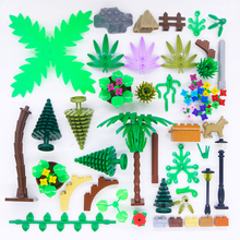 LegoINGly Bricks City House Accessories Building Blocks Plant Street Green Tree Bush Flower Grass Leave Park Farm Toy Compatible diy city military accessory christmas tree green grass building blocks garden plants blocks bricks legoinglys toy for children