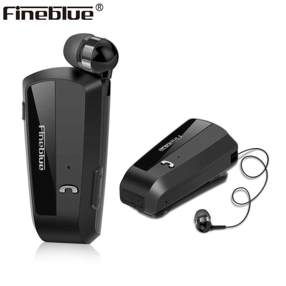 Fineblue F990 With MIC Business Bluetooth brand Earphones Neck Clip On Telescopic Type Sport Stereo Headset image