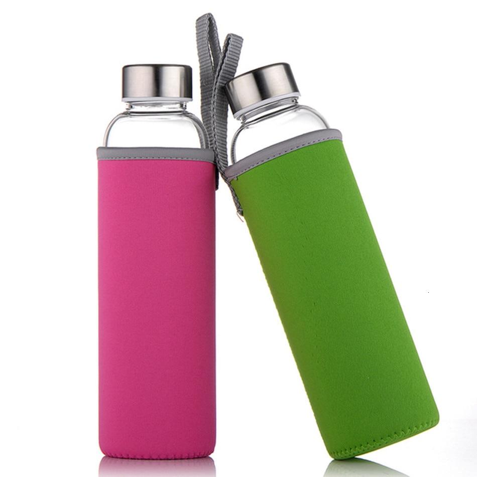 Travel drinkware Portable bottle new design of glass water bottle Transparent bottle for water tea glass drinking bottle|Water Bottles|   - AliExpress