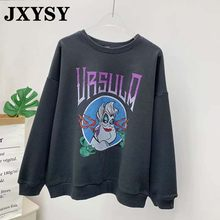 JXYSY hoodies sweatshirt women high street personality o-neck mermaid print oversize female sweatshirt pullovers women tops(China)